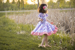 Purple Unicorn Twirl Dress Just For Littles