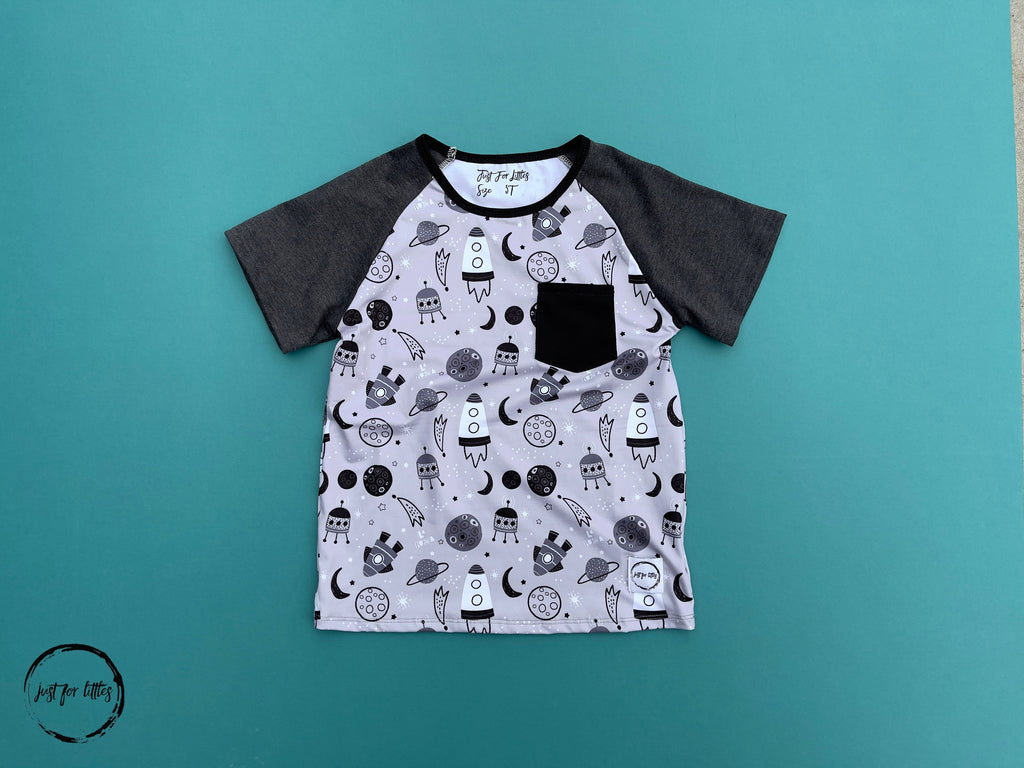 Rocketship T-Shirt Shirt Just For Littles
