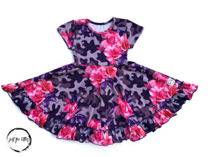 Rose Camo Twirl Dress Just For Littles
