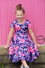 Load image into Gallery viewer, Rose Camo Twirl Dress Just For Littles