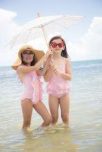 Load image into Gallery viewer, Sandcastle Retreat One Piece Swimsuit Just For Littles