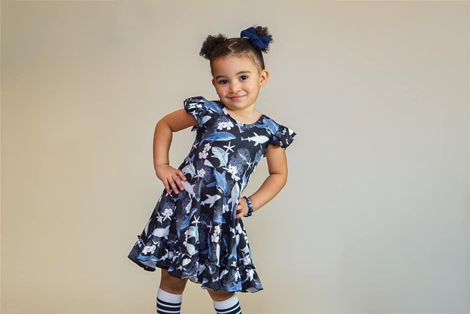 Shark Twirl Dress Dress Just For Littles