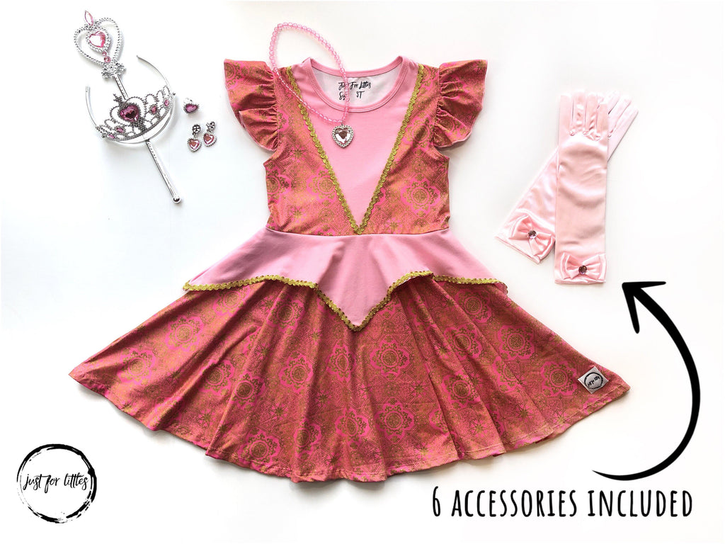 Sleeping Beauty Twirl Dress Dress Just For Littles