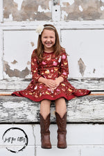 Load image into Gallery viewer, Snowman Twirl Dress Just For Littles