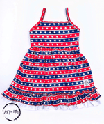 Load image into Gallery viewer, Stars And Stripes Sun Dress Just For Littles