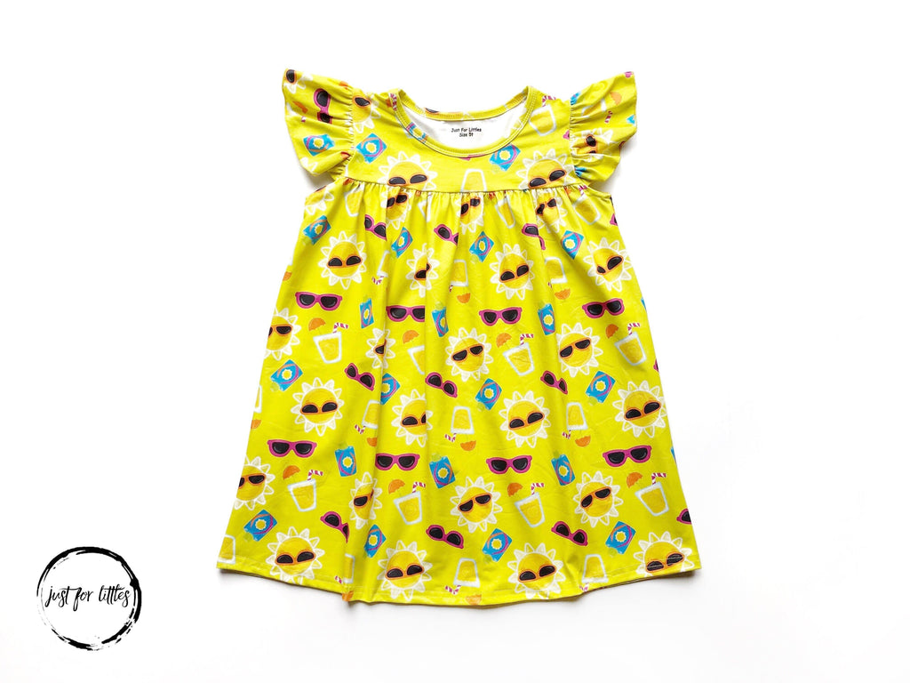 Sunglasses and Sunshine Dress Just For Littles