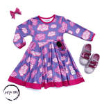 Load image into Gallery viewer, The Cloud Twirl Dress Just For Littles