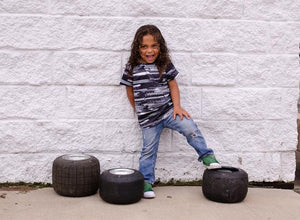 Tire Tracks T-Shirt Just For Littles