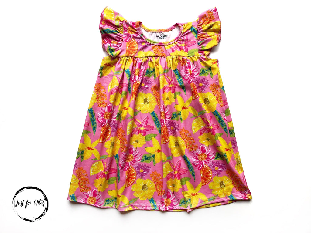 Tropical Floral Dress Just For Littles