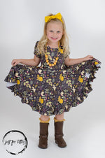 Load image into Gallery viewer, Turtle Dove Twirl Dress Just For Littles