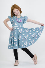 Load image into Gallery viewer, Unicorn Snow Globe Dress Just For Littles