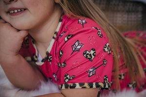 #Vday Leopard Heart Top Shirt Just For Littles™