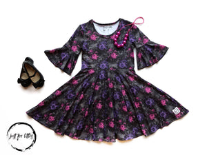 Victorian Floral Twirl Dress Dress Just For Littles