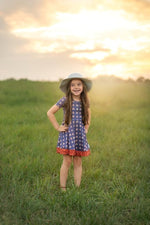 Load image into Gallery viewer, Vintage Rainbow Dress Just For Littles