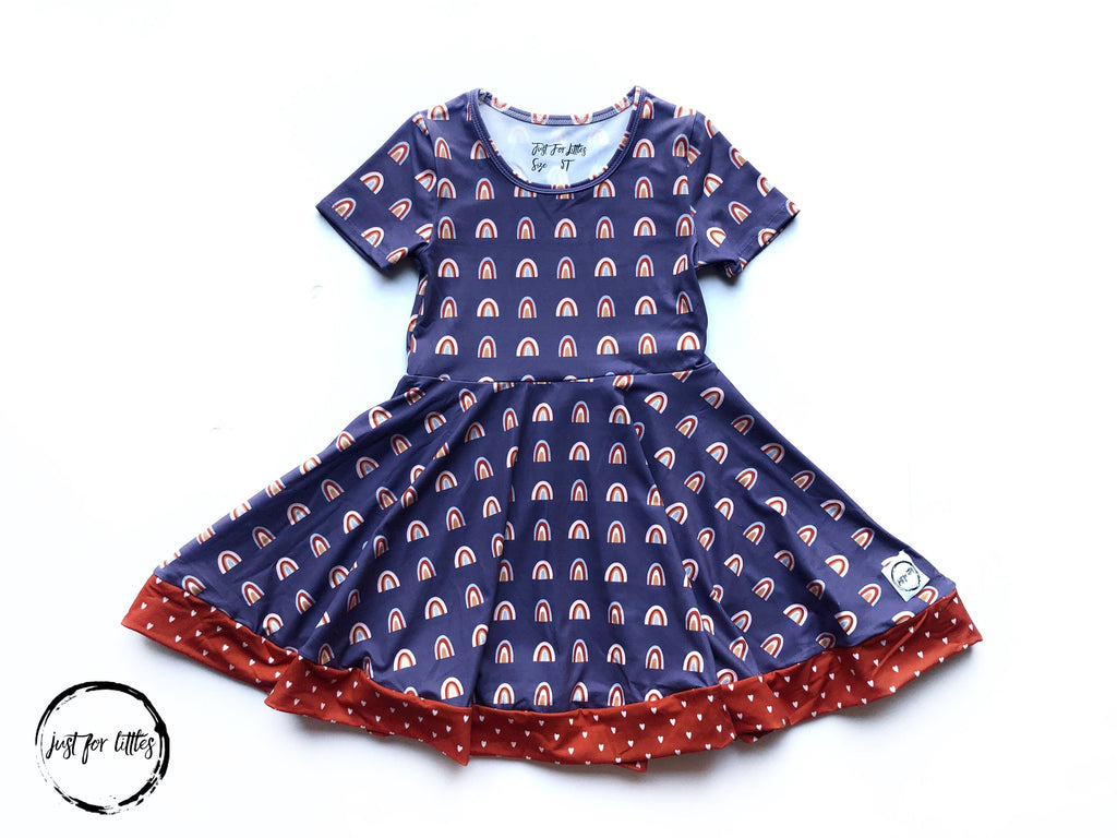 Vintage Rainbow Dress Just For Littles
