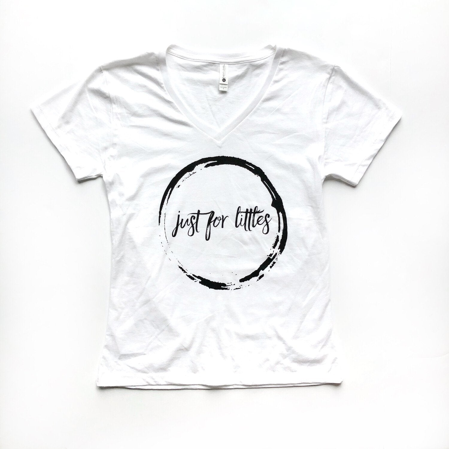 White JustForLittles T-Shirt Just For Littles