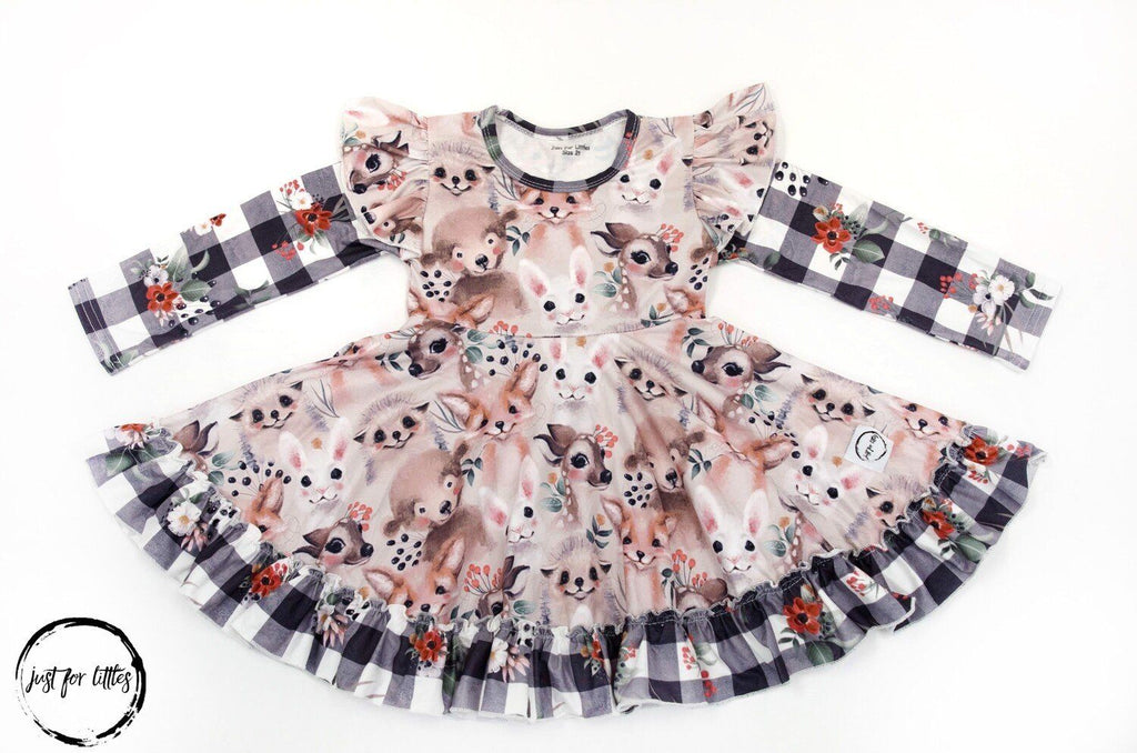 Woodland Animal Twirl Dress Just For Littles
