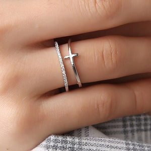 Wonder Woo™ Cross Duo Ring
