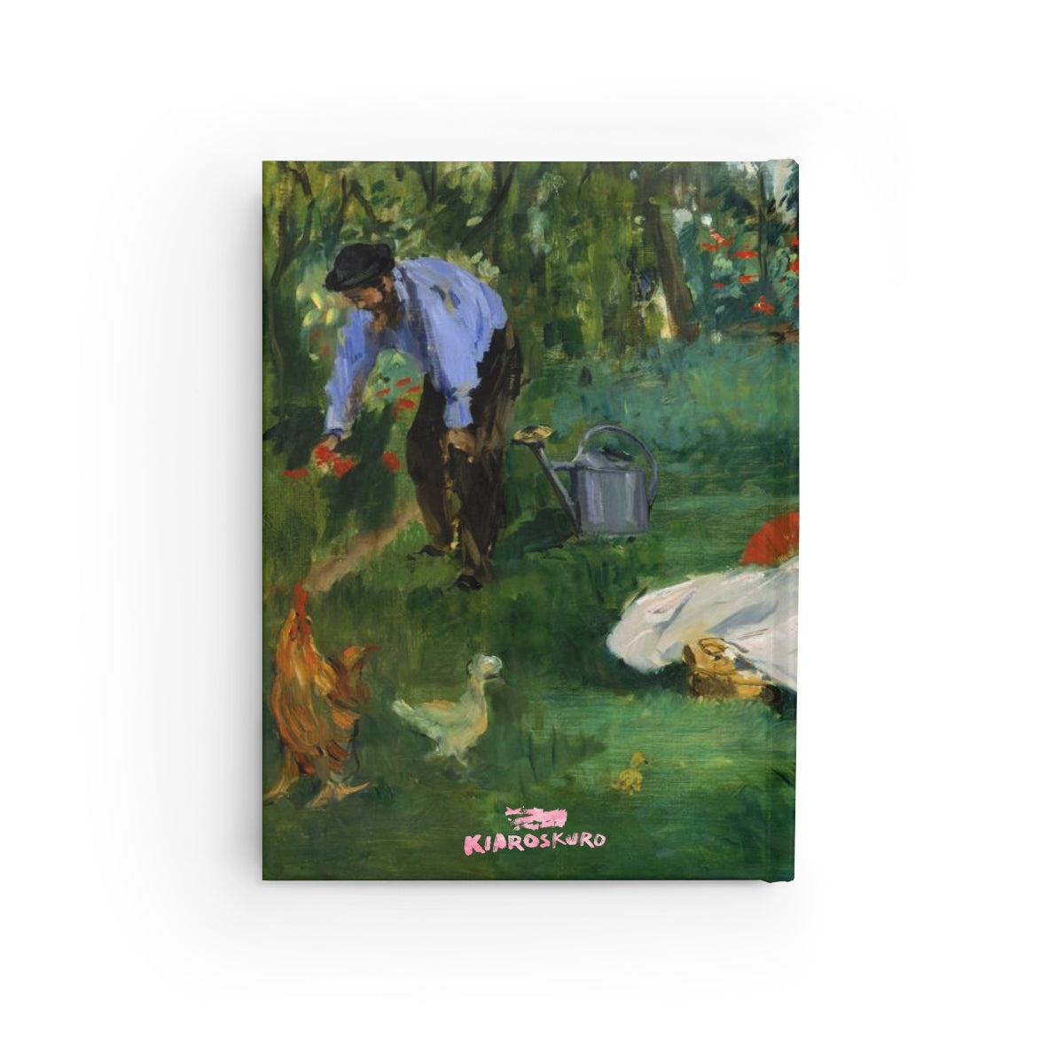 The Monet Family in their Garden [1874] B6 Art Journal - Edouard Manet Kiaroskuro Decor- Canvas Prints, Home Décor & Fashion