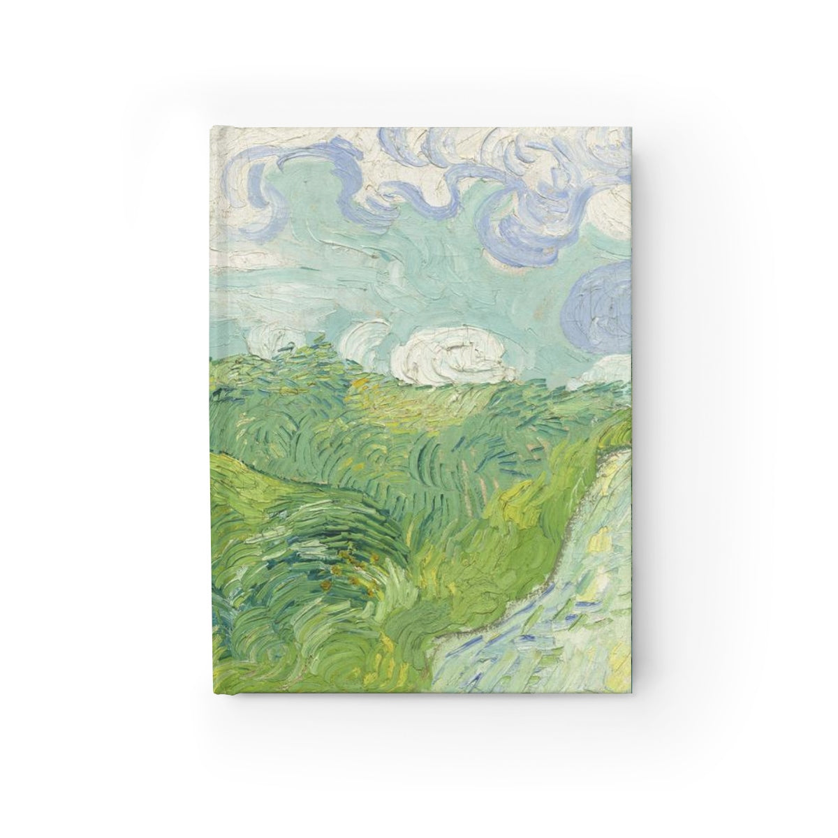 Green Wheat Fields, Auvers. [1890] B6 Art Journal - Vincent Van Gogh Kiaroskuro Decor- Canvas Prints, Home Décor & Fashion