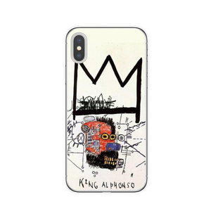 KING ALPHONSO Basquiat Phone Case [iPhone] - Kiaroskuro Kiaroskuro Decor- Canvas Prints, Home Décor & Fashion