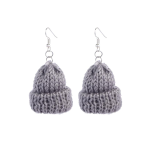 BEANIE Retro Knitted Earrings - Kiaroskuro  Kiaroskuro Decor- Canvas Prints, Home Décor & Fashion