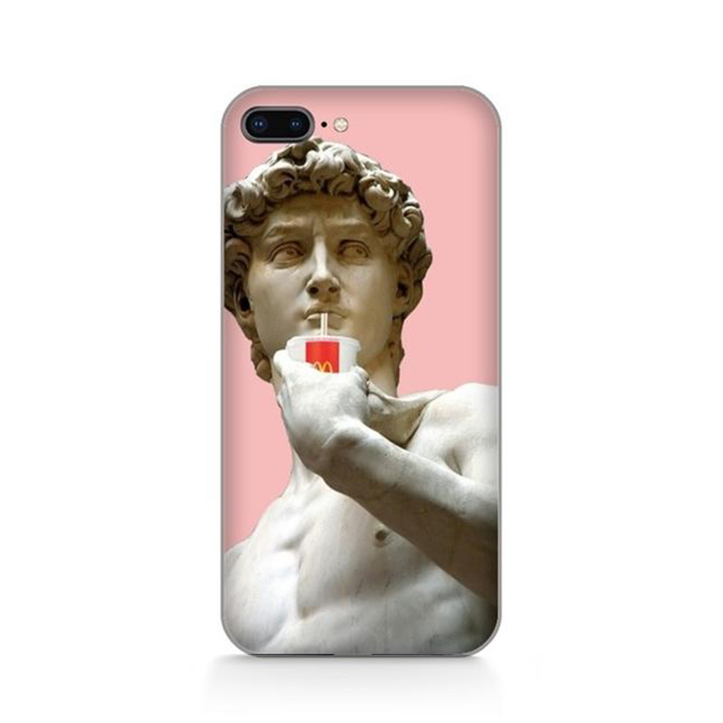 DAVID DRINKS COKE Michelangelo Phone Case [iPhone] - Kiaroskuro