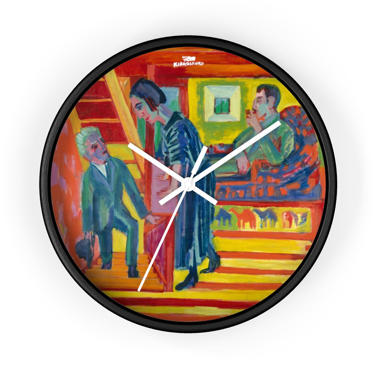 The Visit [1922] Wall clock - Kiaroskuro Kiaroskuro Decor- Canvas Prints, Home Décor & Fashion