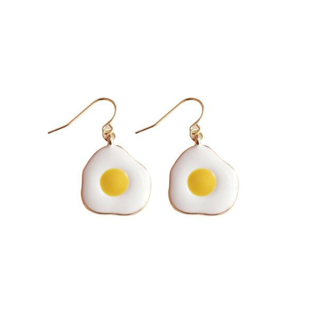 FRIED EGG Retro Drop Earrings - Kiaroskuro