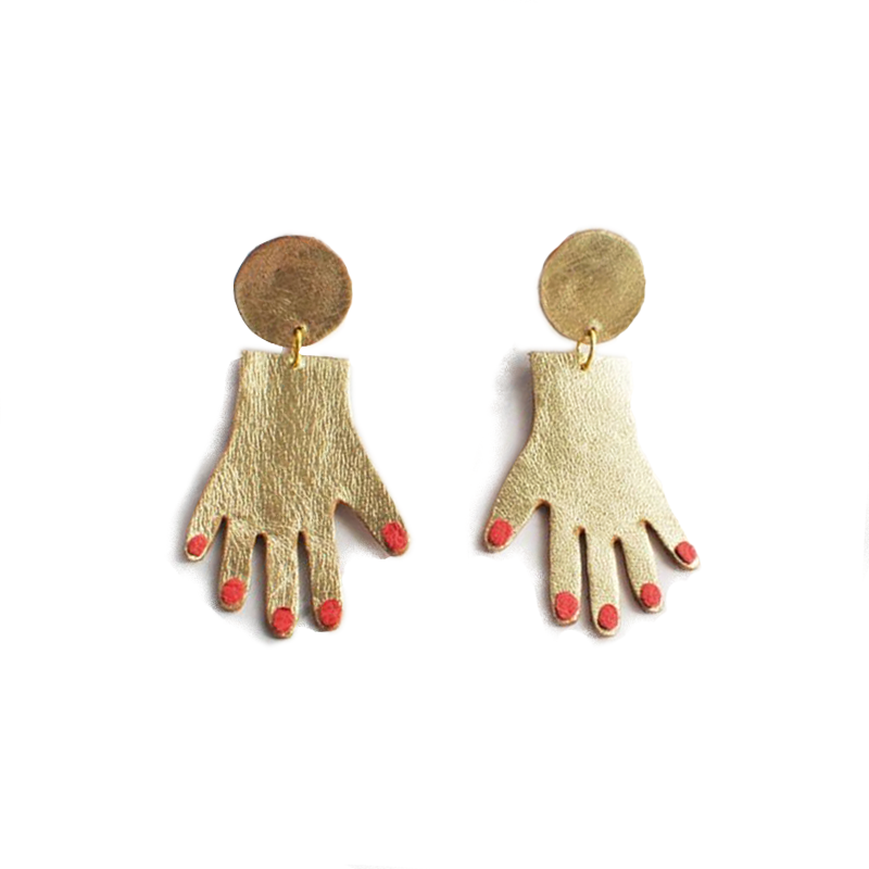 MANICURE Gold Plated Earrings - Kiaroskuro