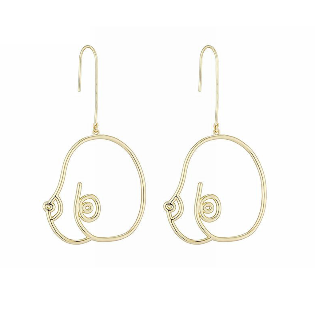 BOSOM Abstract Chest Drop Earrings - Kiaroskuro