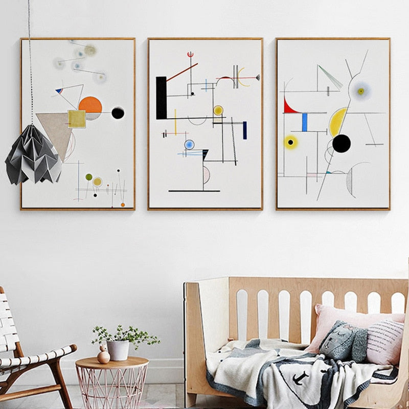 WHITE Kandinsky Canvas Print Collection - Kiaroskuro Kiaroskuro Decor- Canvas Prints, Home Décor & Fashion