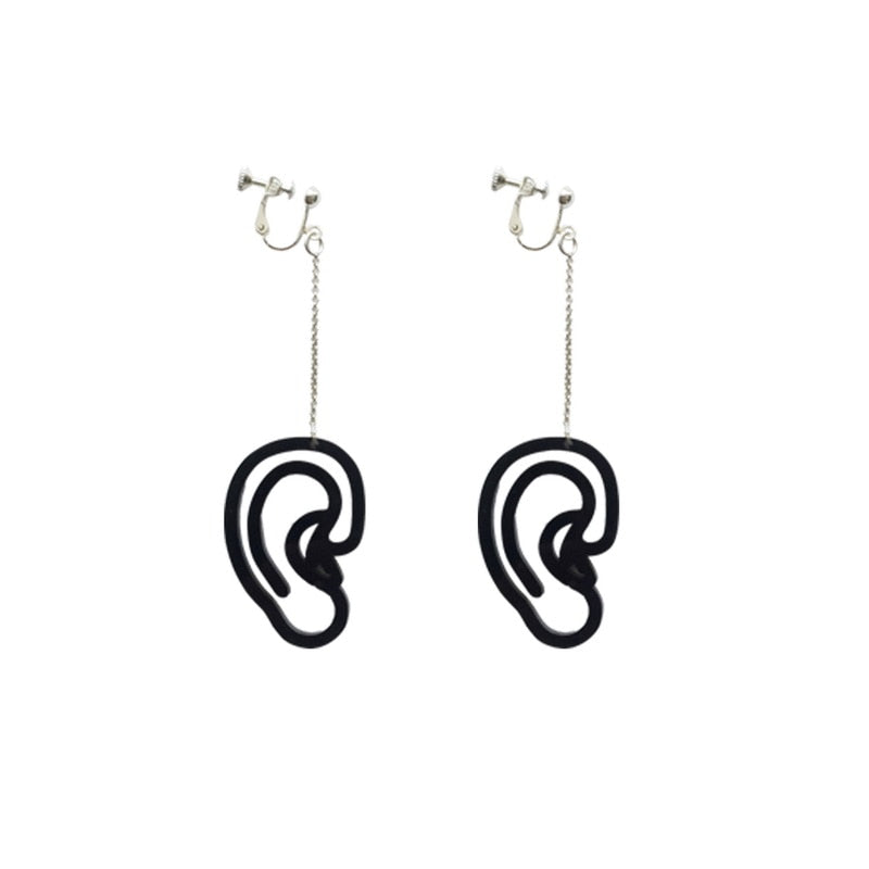 GOGH EARS Acrylic Laser-Cut Earrings - Kiaroskuro