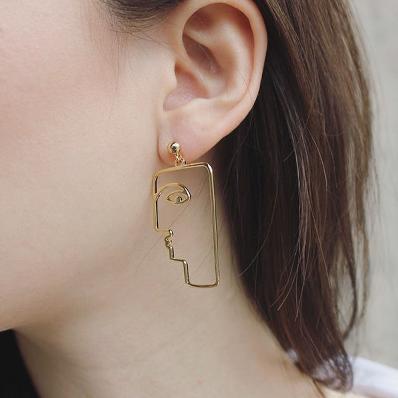 BLOCKFACE Abstract Dangle Earrings - Kiaroskuro