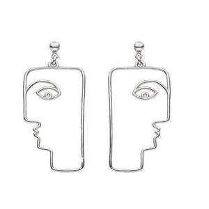 BLOCKFACE Abstract Dangle Earrings - Kiaroskuro  Kiaroskuro Decor- Canvas Prints, Home Décor & Fashion
