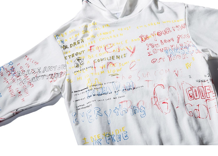 BIBLE Graffiti Cotton Hoodie - Kiaroskuro Kiaroskuro Decor- Canvas Prints, Home Décor & Fashion
