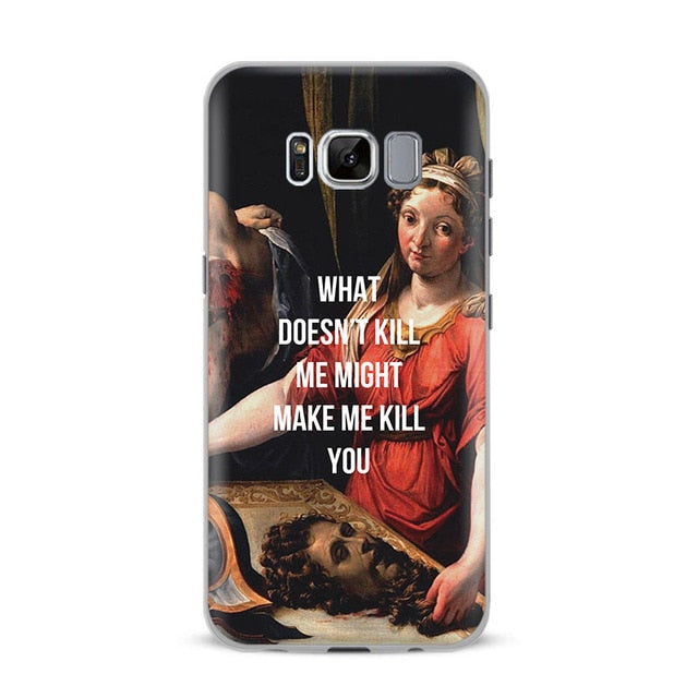 WHAT DOESN'T KILL ME Classics Phone Case [Samsung] - Kiaroskuro Kiaroskuro Decor- Canvas Prints, Home Décor & Fashion