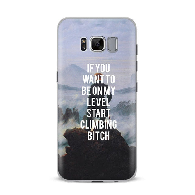 START CLIMBING Classics Phone Case [Samsung] - Kiaroskuro Kiaroskuro Decor- Canvas Prints, Home Décor & Fashion