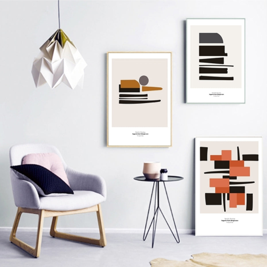 Abstract Geometric Collection - Kiaroskuro Kiaroskuro Decor- Canvas Prints, Home Décor & Fashion