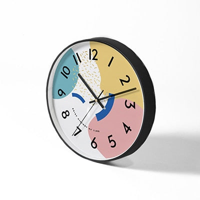 KUPKA Abstract Electronic Clock- Pastel [10/12inch] - Kiaroskuro Kiaroskuro Decor- Canvas Prints, Home Décor & Fashion