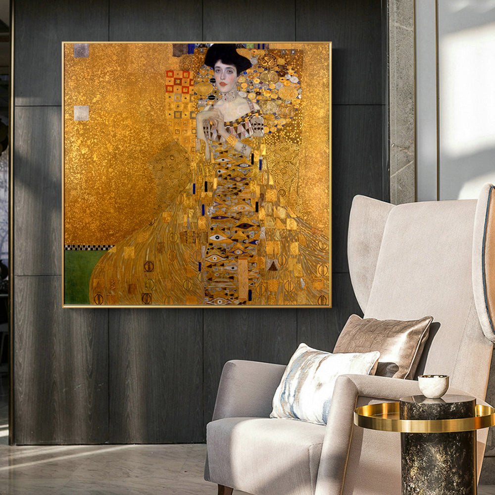 Portrait Of Adele Boch-Blauer [1907] - Gustav Klimt Kiaroskuro Decor- Canvas Prints, Home Décor & Fashion