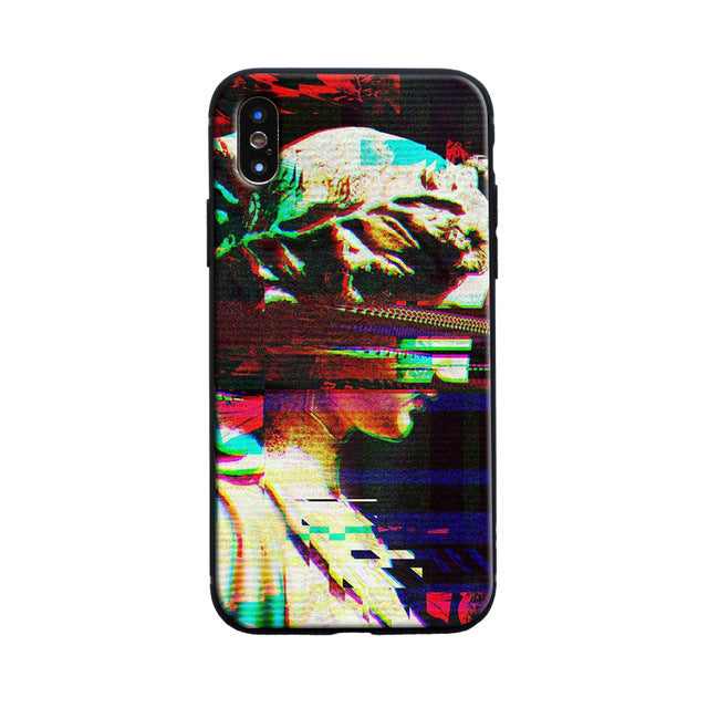 GLITCH Michelangelo Phone Case [iPhone] - Kiaroskuro