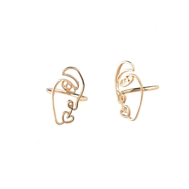SPLIT Matching Face Rings [1 Pair] - Kiaroskuro
