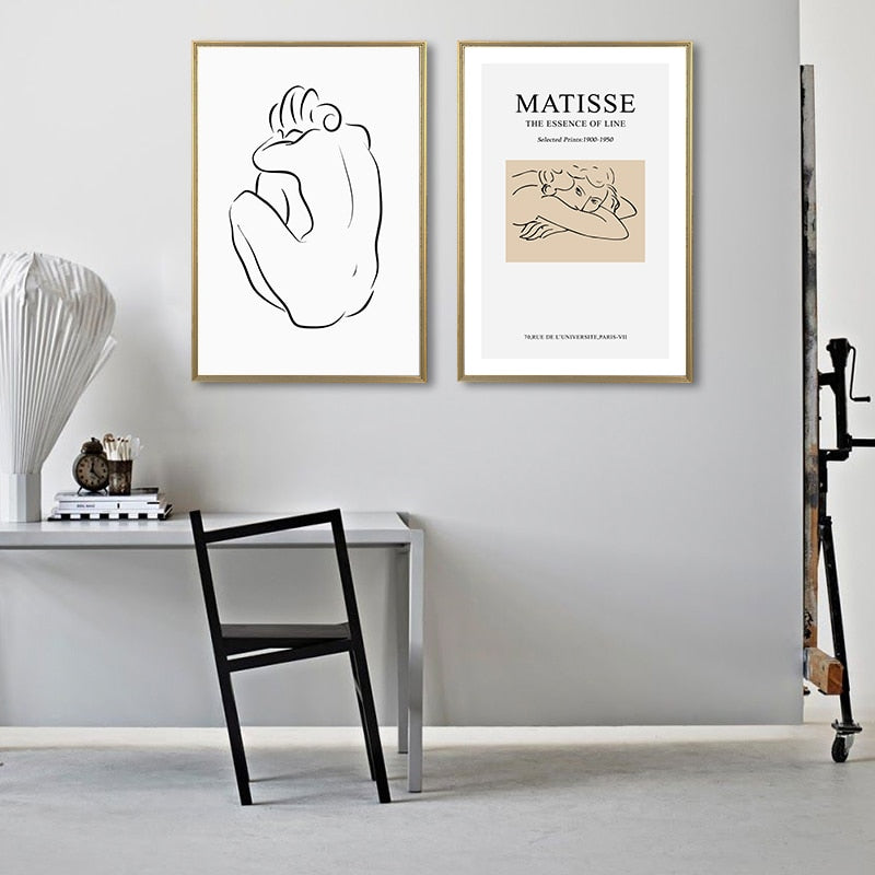NUDE Matisse Canvas Print Collection - Kiaroskuro Kiaroskuro Decor- Canvas Prints, Home Décor & Fashion