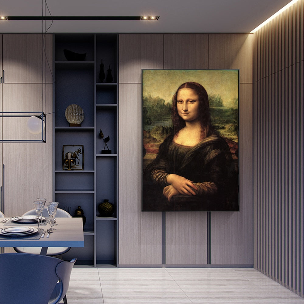 Mona Lisa [1503] - Leonardo Da Vinci Kiaroskuro Decor- Canvas Prints, Home Décor & Fashion