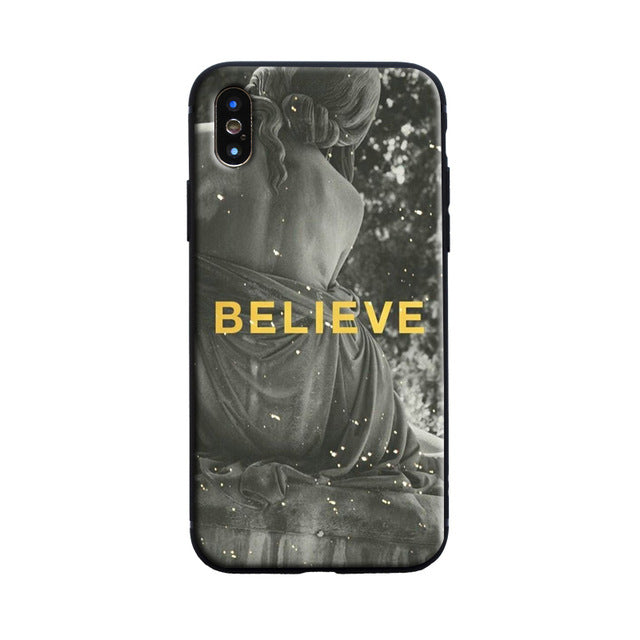 BELIEVE Michelangelo Phone Case [iPhone] - Kiaroskuro Kiaroskuro Decor- Canvas Prints, Home Décor & Fashion