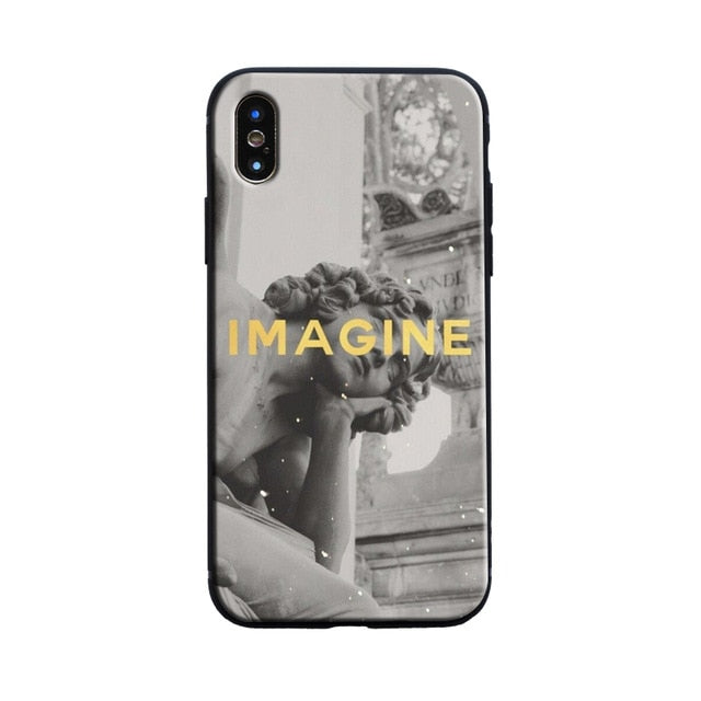 IMAGINE Michelangelo Phone Case [iPhone] - Kiaroskuro Kiaroskuro Decor- Canvas Prints, Home Décor & Fashion