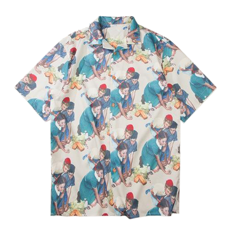 PLAY Button Up Shirt - Kiaroskuro