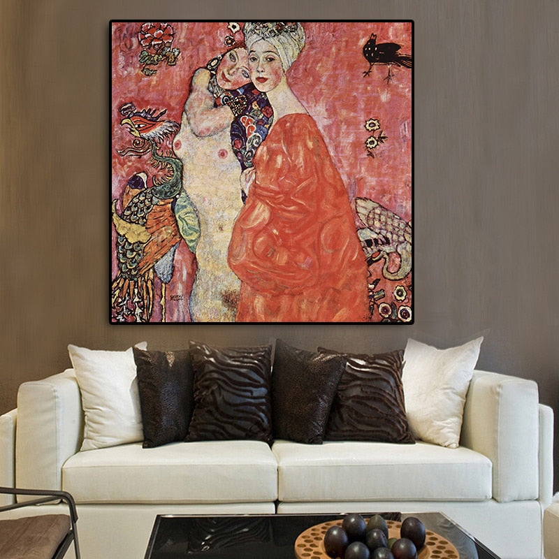 The Friends [1917] - Kiaroskuro Kiaroskuro Decor- Canvas Prints, Home Décor & Fashion