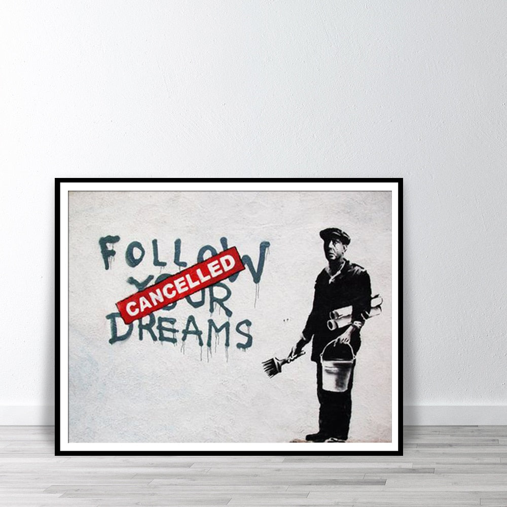 """Follow Your Dreams, CANCELLED"" Canvas Print - Kiaroskuro Kiaroskuro Decor- Canvas Prints, Home Décor & Fashion"